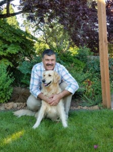 Steve and Addy are one of the pet therapy teams that comes to visit Stephen's Place every now and then.